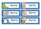 Editable Animal Theme Name tags, Name plates, frames