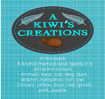Editable Animal themed Desk Labels/ Name Tags
