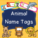 Editable Name Tags/Desk Labels- Animal Themed