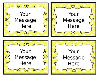 Editable, Anywhere, Anything Classroom Decorative Tags for Labeling your Room