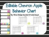 Editable Apple Behavior Chart and Behavior Calendars II