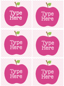 Editable Apple Book Labels