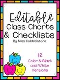Editable Apple Class Lists and Checklists