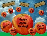 Editable Apple Fall Labels for your Classroom and Home