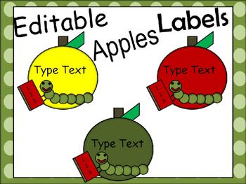 Editable Apple Labels September