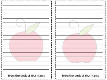 Editable Apple Stationary