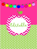 Editable Apples to Apples Binder Cover and Spine Labels