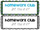 April Homework Club Editable