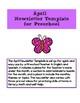 Editable April Newsletter Template for Preschool