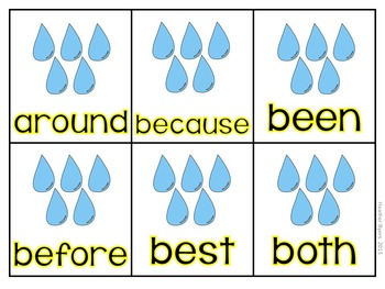 Editable April Showers- Sight word game