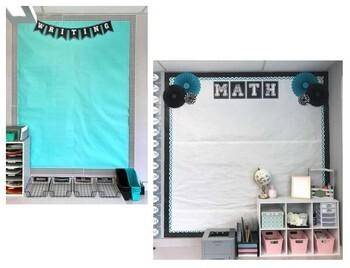 Editable Aqua Chalkboard Banner