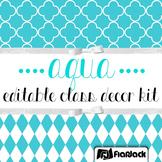 Editable Aqua Class Decor Kit