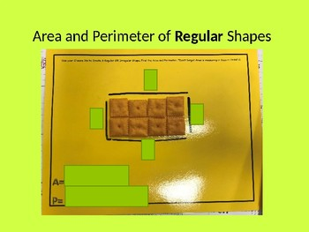 Editable Area and Perimter Cheez-Its Interactive Powerpoint
