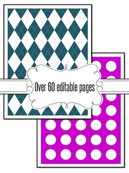 Editable Argyle And Dot Backgrounds
