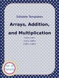 Editable: Array, Addition, and Multiplication