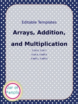 Editable: Array, Addition, and Multiplication