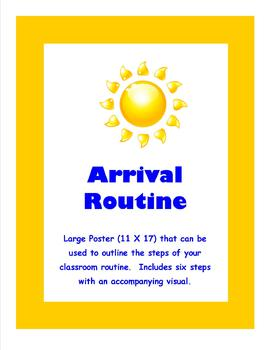 Editable Arrival Routine Poster