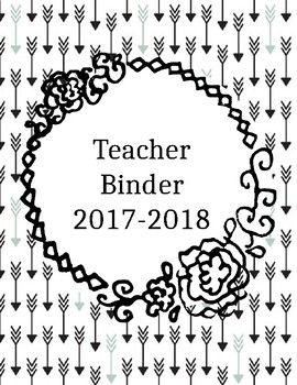 Editable Arrow Binder Covers