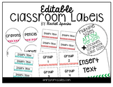 Editable Arrow Classroom Labels (Includes Scrapbook Case Sizes!)