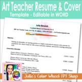 Editable Art Teacher Resume and Cover Letter Template