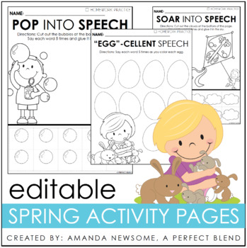 Editable Articulation and Language Pages- Growing Bundle