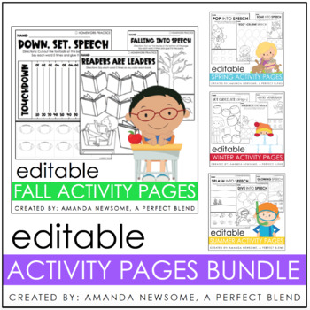 Editable Articulation and Language Pages