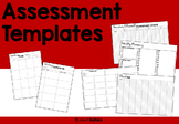 Editable Assessment Templates