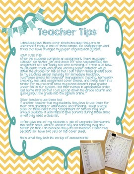 Editable Assignment Cover Sheet {FREEBIE} TWO VERSIONS
