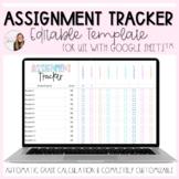 Editable Assignment Tracker