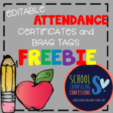 Editable Attendance Certificates and Brag Tags - FREEBIE!