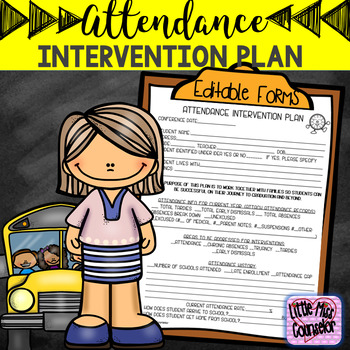 Editable Attendance Intervention Plan