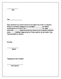 Editable Attendance Letter for parents