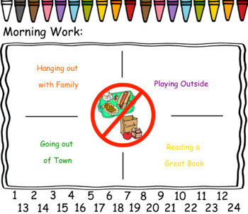 Editable Attendance and Lunch Count Slides