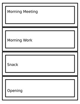 Editable (Autism Support) Schedule Cards for Centers & Class Activities- White