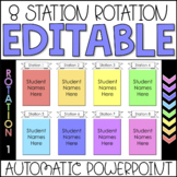 Editable Automatic Center Rotation PowerPoint