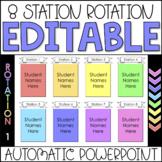 Editable Automatic Center Rotation PowerPoint