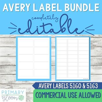 Editable Avery Label 5610 and 5613 Power Point Template Bundle