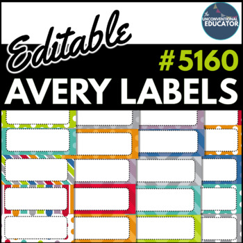editable avery labels 5160 1 x 2 5 8 by the unconventional