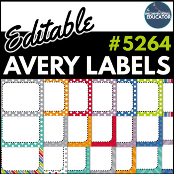 editable avery labels 5264 3 1 3 x 4 by the unconventional