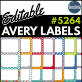 "Editable Avery Labels- #5264 (3 1/3"" x 4"")"