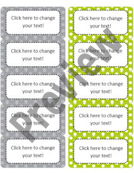 """Editable Avery Labels- #8163 (2"""" x 4"""")"""