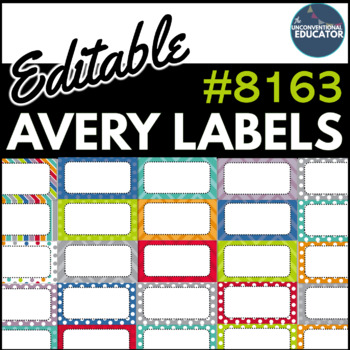 editable avery labels 8163 2 x 4 by the unconventional educator