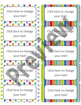 "Editable Avery Labels- #8163 (2"" x 4"")"