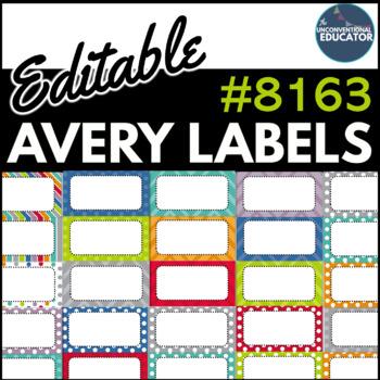 Avery 8163 Template For Word from ecdn.teacherspayteachers.com