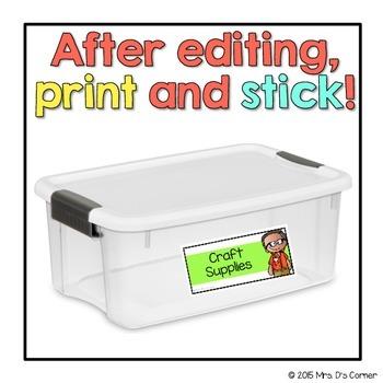 Editable Avery Labels 8163 { Melonheadz Theme} 60 Editable Labels!