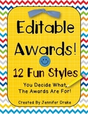Editable Awards ~12 Styles~  Use To Make Awards For All Year & Occasions!
