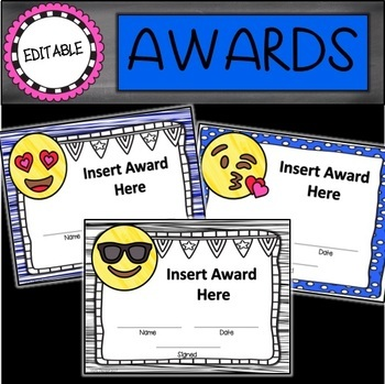 Editable End of the Year Awards Bundle
