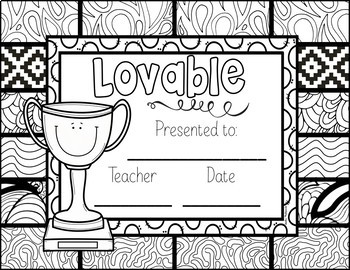 End of the Year Awards: Editable: Color Your Own End of Year Awards