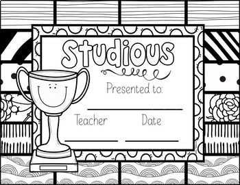 End of the Year Awards: Students Can Color
