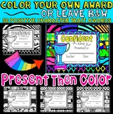 End of the Year Awards: Editable: Color Your Own End of Ye
